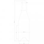 Champagne Flaska  75 cl, 15 st