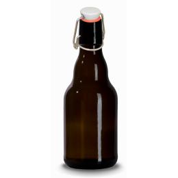 Brun flaska 33cl med bygelkapsyl